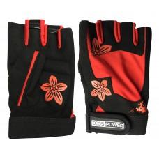 Перчатки для фитнеса 5106-RL, цвет: черный+красный, размер: L