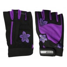 Перчатки для фитнеса 5106-VM, цвет: черный+фиолетовый, размер: М