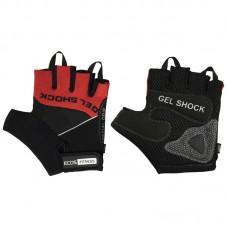 Перчатки для фитнеса 2117-RL, цвет: черный+красный, размер: L