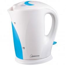 Чайник HomeStar HS-1004 (1,7 л) бело-голубой