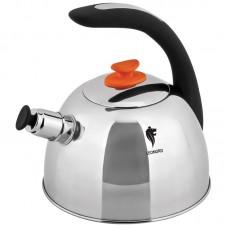 Чайник из нерж.стали со свистком Liebevoll-7001, объем-2,7л, ручка soft-touch,капс.дно,аналог 002195