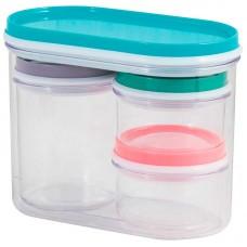 Универсальный набор банок для хранения SB-1 (4шт, пластик)