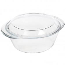 Кастрюля из жаропрочного стекла с крышкой, серия - CRISTALLINO, 2 литра, тм Mallony