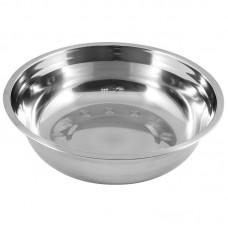 Миска Bowl-25, объем 2,3 л, с расширенными краями, из нерж стали, зеркальная полировка, диа 25 см