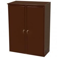 Шкаф для 2х газ. баллонов(50л), с замком (разборный оцинк.)цвет: коричневый