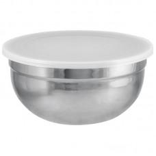 Миска из нерж стали с пласт крышкой AMARENA, 1,5 литра, тм Mallony