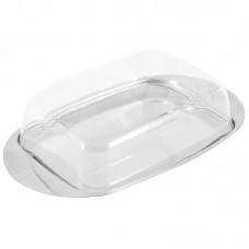 Масленка из нерж стали с пластик крышкой серия OLIATORE, р-р 18*11*4 см, тм Mallony