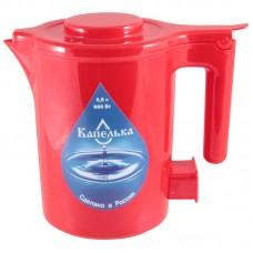 Чайник электрический Капелька, 0,5л., 600Вт, красный