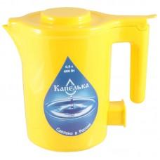 Чайник электрический Капелька, 0,5л., 600Вт, желтый