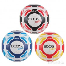 Мяч футбольный ECOS Match (микс цветов в транспортной упаковке - по 8 штук каждого цвета, всего - 3 цвета)