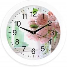 Часы настенные кварцевые ENERGY модель ЕС-96 цветы