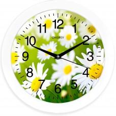Часы настенные кварцевые ENERGY модель ЕС-98 ромашки