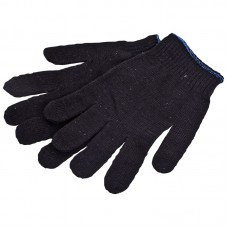Перчатки х/б черные 10 класс, 4 нити