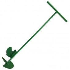 Бур садовый с 2-мя насадками (сменные ножи 150мм и 200мм) порош.окрас