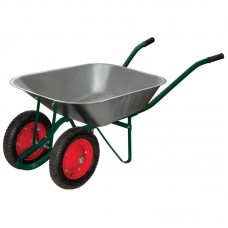 Тачка садовая WB 4107-2 в т/у (оцинк., 150кг, 65л., пневмат.2x колеса тип2 330мм)
