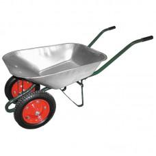 Тачка садовая WB 4107-2 в боксе (оцинк., 150кг, 65л., пневмат. 2х колеса тип2 330мм)
