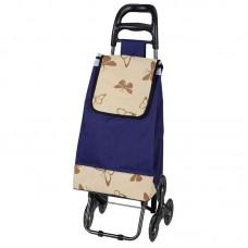 """Тележка с сумкой Рыжий кот А204 """"Бабочки"""", 30 кг"""