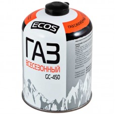 Газ всесезонный т.м. ECOS в баллоне GC-450 (резьбовой EPI-GAS, 450 г, Корея)