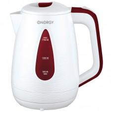 Чайник ENERGY E-214 (1,7 л, диск) бело-бордовый