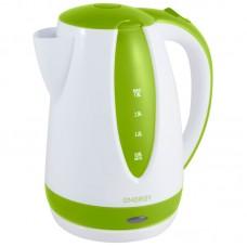 Чайник ENERGY E-229 (1,8л, диск) бело-зеленый