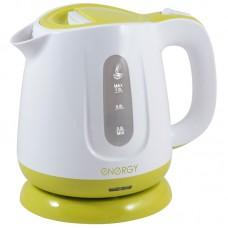 Чайник ENERGY E-234 (1л.), диск бело-зеленый