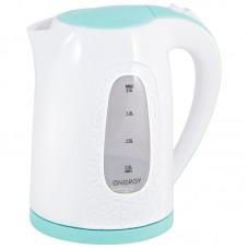 Чайник ENERGY E-236 (2л.), диск бело-бирюзовый