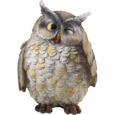 Фигурка садовая HC-Owl-153, «Сова», материал:  полистоун, размеры: 16*16*21,5 см
