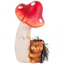 Фигурка садовая «Грибник», KY15317, материал: терракота, размер: 8.7*8.4*16.8 см