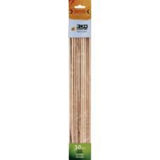 Шампур деревянный квадратный 6,2*6,2*400мм 30шт.