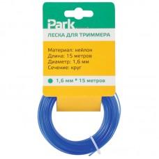 Леска нейлон  для триммеров Park 1,6мм 15м круг (желт.,крас.,синий) аналог 150773