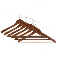 Набор вешалок деревянных W2-P-RS/6 (эконом) (цвет: красное дерево, 6 шт)