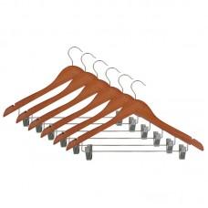 Набор деревянных вешалок W2-C-RS/6 (цвет: красное дерево, лакированные, 6 шт)