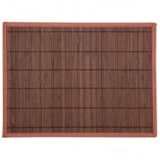 Салфетка сервировочная из бамбука BM-05, цвет: тёмно-коричневый, подложка: EVA