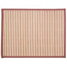 Салфетка сервировочная из бамбука BM-06, цвет: бело-коричневый, подложка: EVA