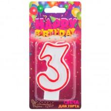 Свеча для торта цифра 3