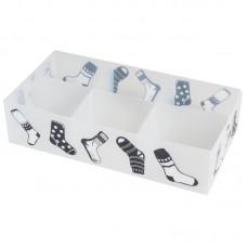 Коробка для белья PSB-02/6-P, 6 ячеек, пластик, с принтом, 30*15*7см
