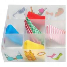 Коробка для белья PSB-03/9-P, 9 ячеек, пластик, с принтом, 30*30*10см