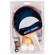 Набор для игры в пинг-понг PPSet-02, (2 ракетки +  3 мячика+сетка+ крепление), Упаковка: блистер