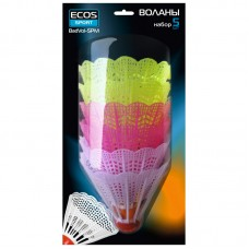 Воланы (набор из 5 шт) BadVol-5PM, Материал: пластик,  Упаковка:  блистер