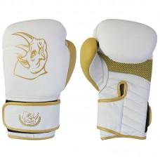 Перчатки боксерские детские BG-2574W-8, 8 унций, Кожа, цвет: Белый