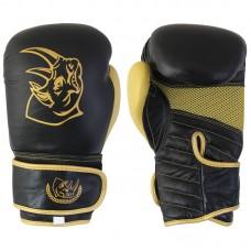 Перчатки боксерские детские из кожи BG-2574R-08 BG, 8 унций, Сумка, цвет: Черный с золотом