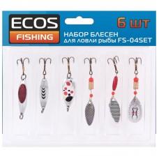 Набор блесен для ловли рыбы 6 шт FS-04SET