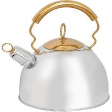 Чайник из нержавеющей стали Mallony  DJB-3427 (2,5 литра, со свистком, капсульное дно)