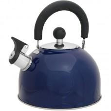 Чайник из нержавеющей стали Mallony MAL-039-B, (2,5 литра, синий, со свистком)