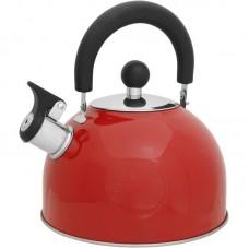 Чайник из нержавеющей стали Mallony MAL-039-R, (2,5 литра, красный, со свистком)