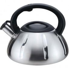Чайник из нержавеющей стали Mallony MAL-066, (3 литра, цельнометаллический, матовый, со свистком)