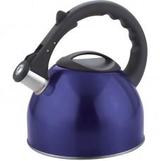 Чайник из нержавеющей стали Mallony MAL-042-B, (2,5 литра, синий, со свистком)