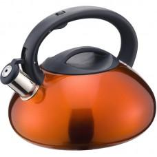 Чайник из нержавеющей стали Mallony MAL-104-O, (3 литра, оранжевый, со свистком, цельнометаллический)