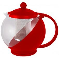 Чайник заварочный Variato, 1,2 л (стекло, пластик корпус, металл.ситечко), цвет в ассорт.
