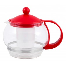 Чайник заварочный Variato, литраж - 880 мл (стекло, пластик корпус, пласт фильтр), цвета в ассорт.